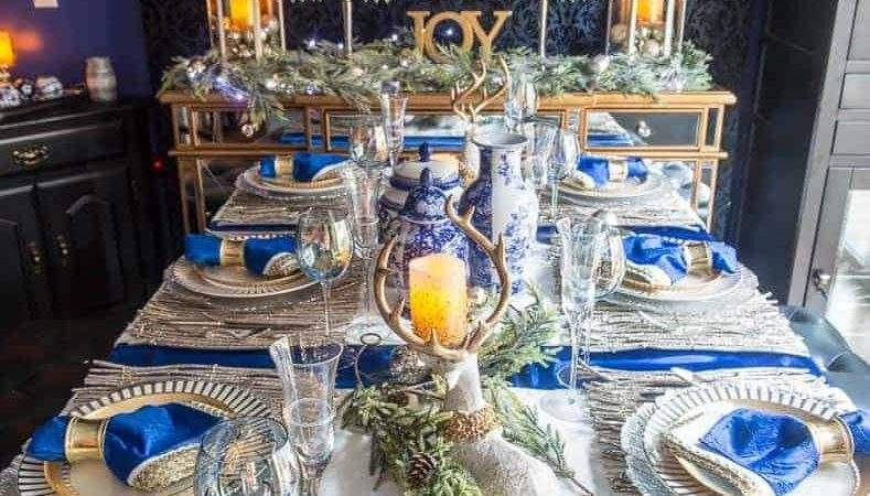 Top Blue White Christmas Table Decorations