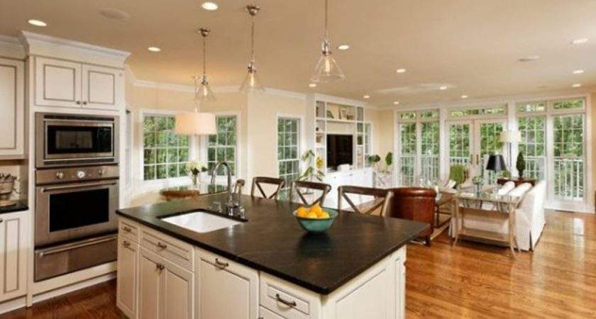 Top Open Living Room Kitchen Designs Decorate