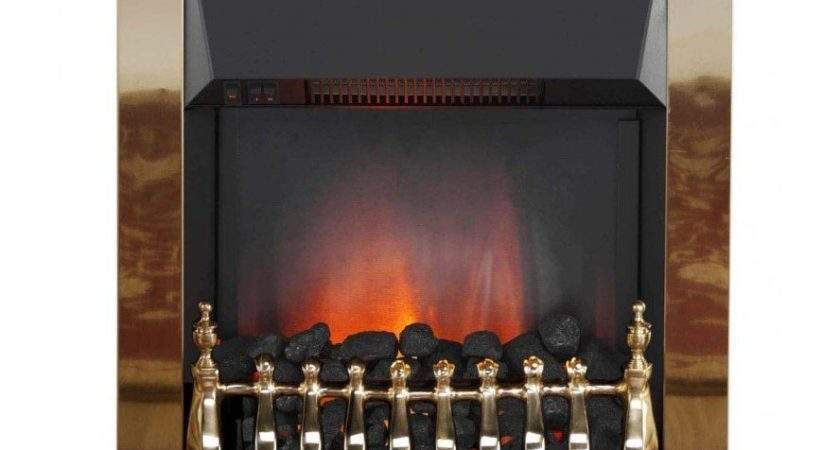 Traditional Brass Coal Flame Effect Inset Electric