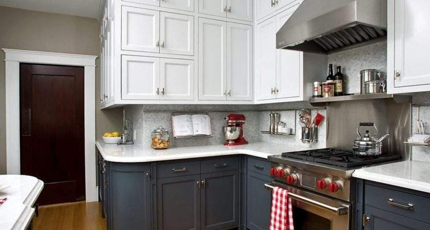 Traditional Design Light Gray Kitchen Cabinets Grey Metal