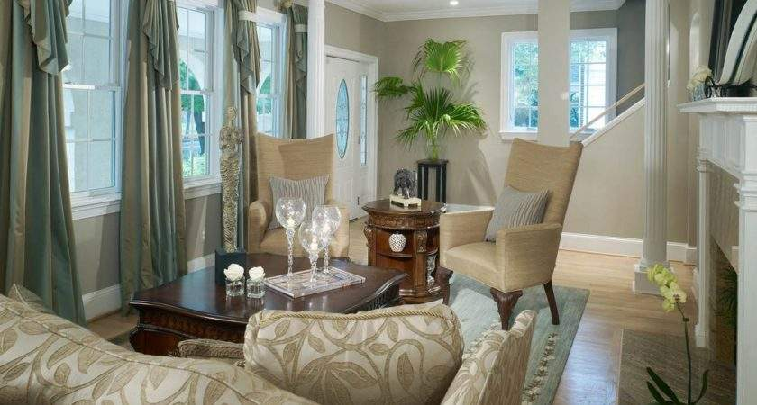 Traditional Living Room Mixes Old New Shelley