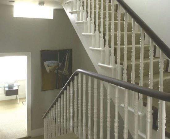 Traditional White Staircase Hallway Idea