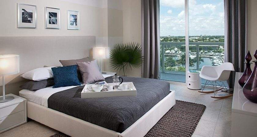 Trendy Bedrooms Striped Accent Walls