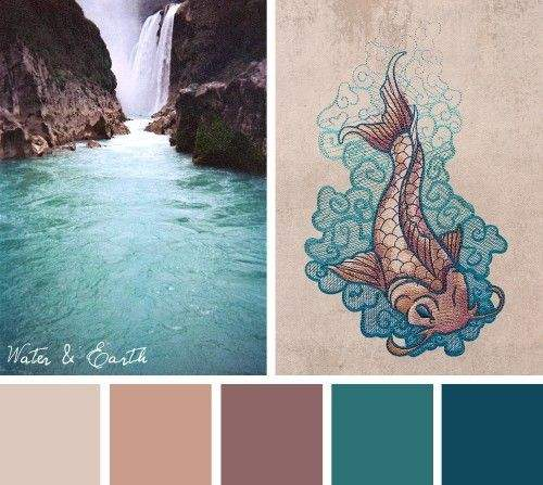 Try Nature Inspired Water Earth Color Scheme Out