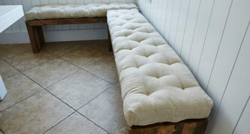 Tufted Wool Filled Bench Cushion Window Seat