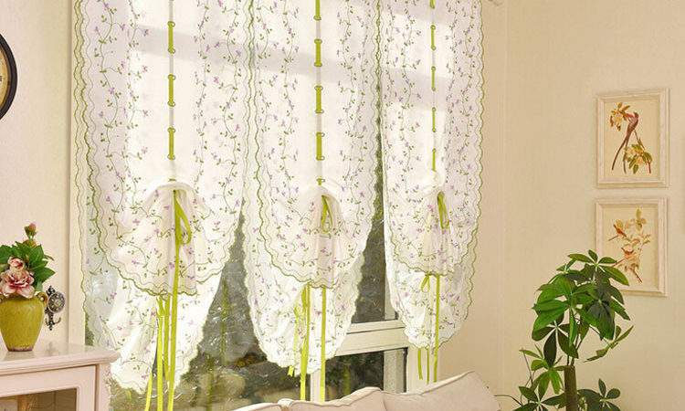 Tulle Home Window Floral Curtains Drape Divider Panel
