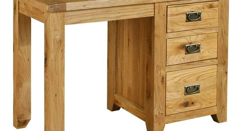 Tuscany Solid Oak Furniture Small Single Pedestal Office