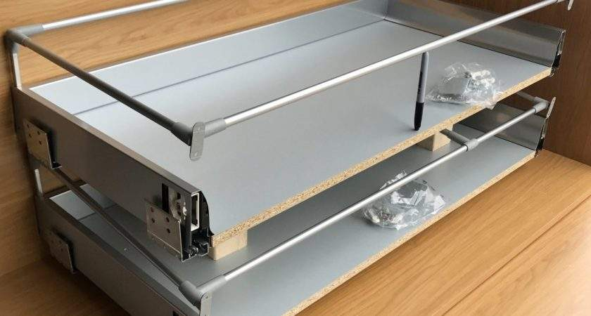 Two Deep Pan Pack Soft Close Kitchen Drawer