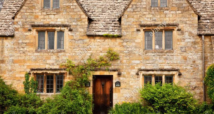 Typical Cotswold Stone Country House Leaded Lights