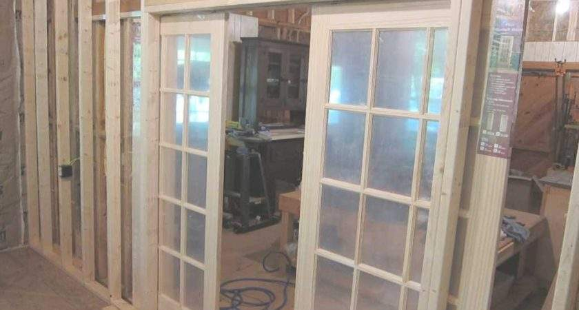 Unfinished Custom French Sliding Doors Frosted Glass