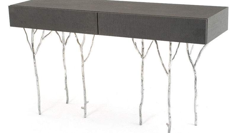 Unique Console Table Forged Branch Design Modern Organic