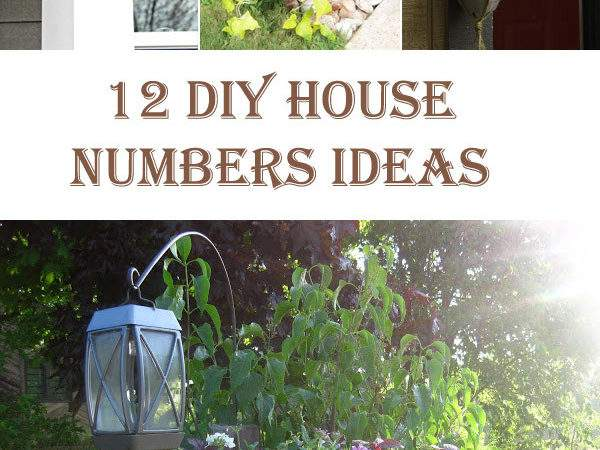 Unique Diy House Numbers Ideas Diys