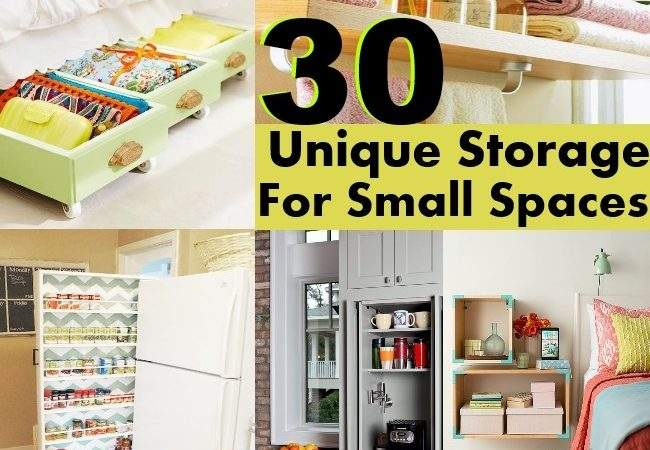 Unique Storage Ideas Small Spaces Diy Home Things