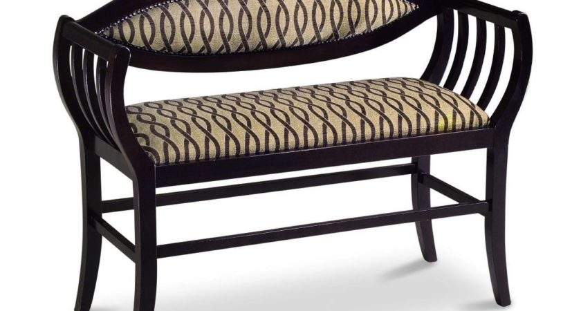 Upholstered Contemporary Bedroom Hallway Bench