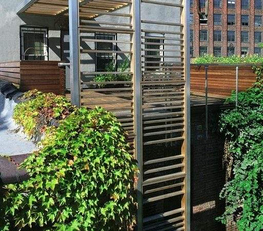 Urban Trellis Roof Deck Modern New York