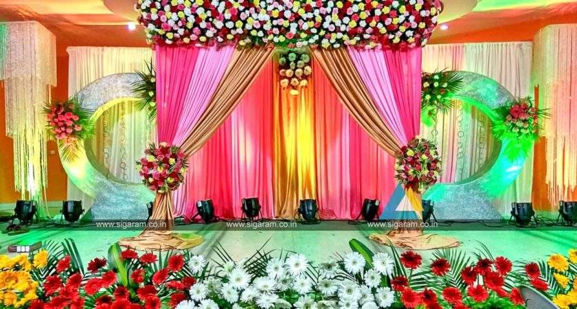Valaikappu Stage Decoration Jayaram Hotel Pondicherry