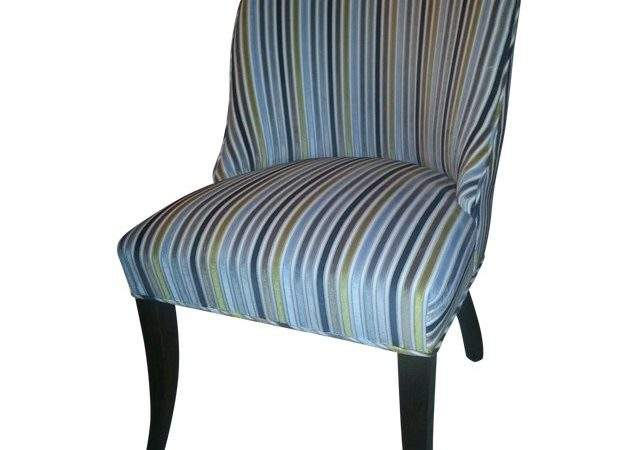 Velvet Stripe Custom Dining Room Chair Chairish