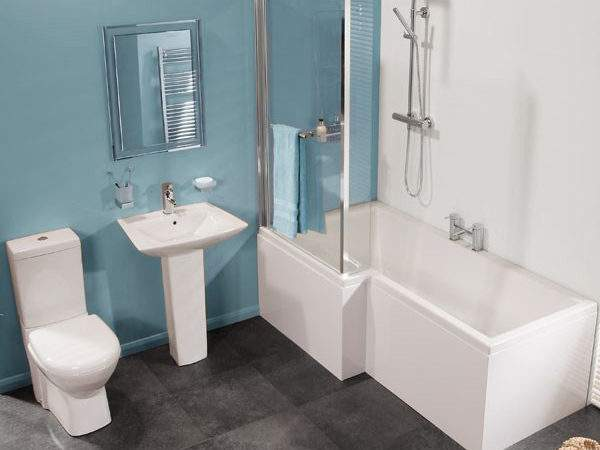 Veneto Left Hand Square Shower Bath Suite