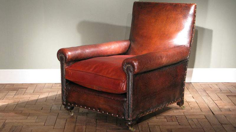 Very Comfortable Circa French Leather Armchair
