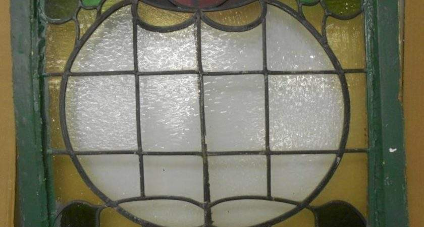 Victorian Edwardian English Leaded Stained Glass Window