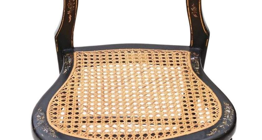 Victorian Mother Pearl Cane Bedroom Chair Antiques Atlas