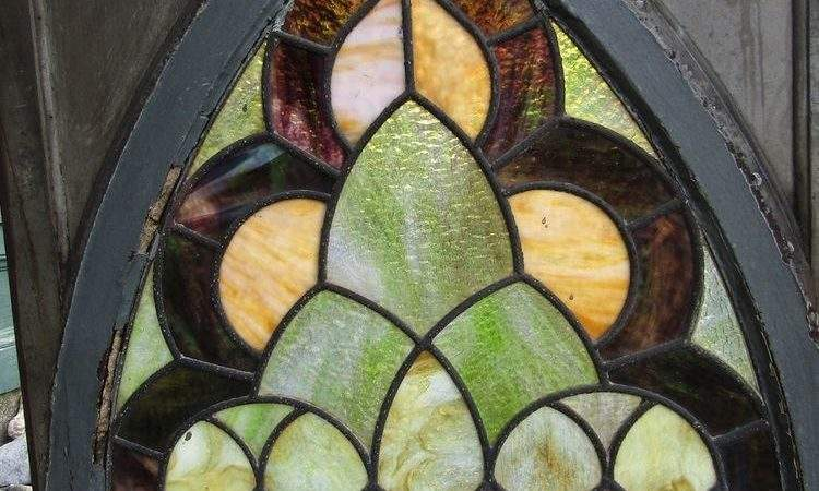 Victorian Stained Glass Window Gothic Frame Ebay