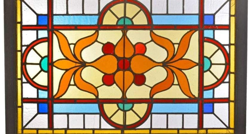Victorian Stained Glass Window Vivid Flashed