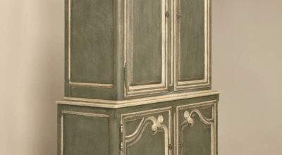 Vintage Baker Country French Style Armoire Buffet Deux