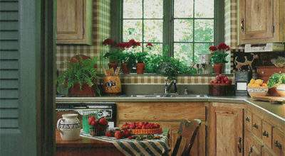Vintage Country Living Farmhouse Kitchen