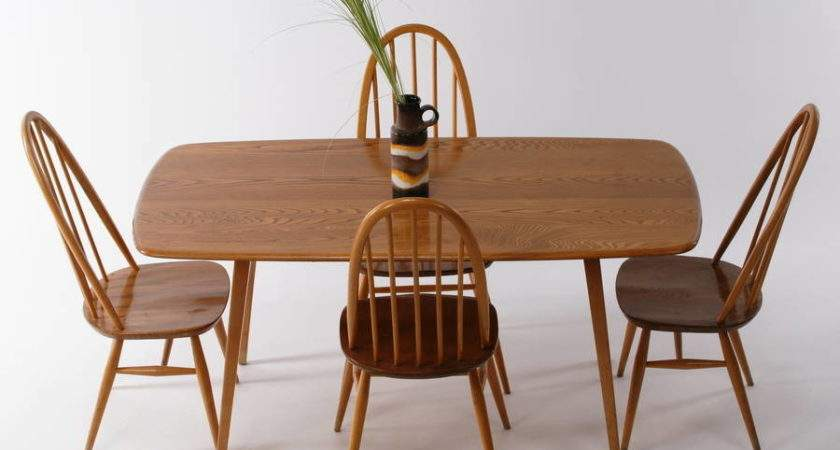 Vintage Ercol Dining Room Table Chairs Iamia