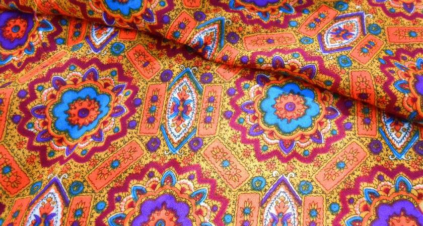 Vintage Fabric Mod Moroccan Perfectmomentpillows Etsy