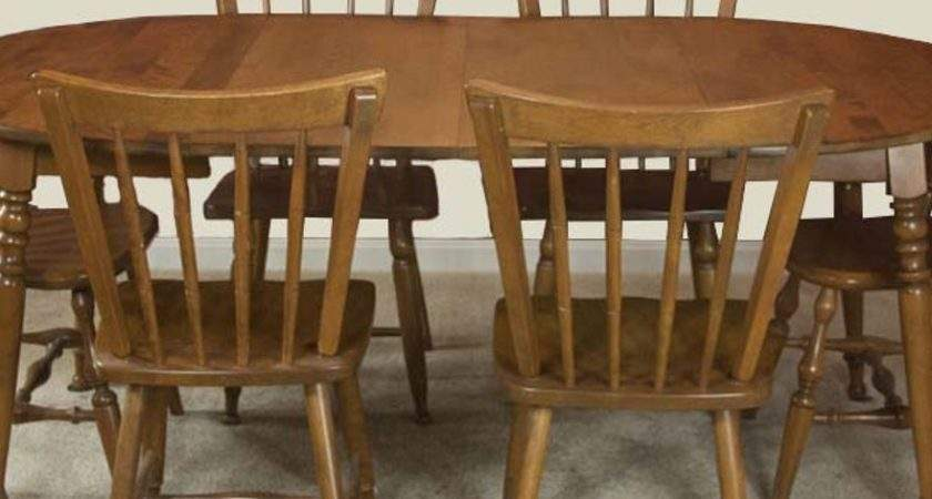 Vintage Maple Dining Room Table Chairs Ebth