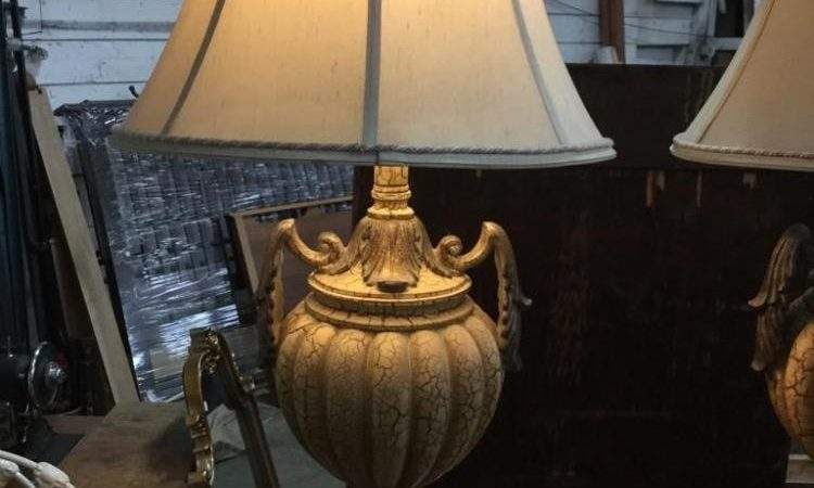 Vintage Ornate Living Room Lamps Both Working Conditio