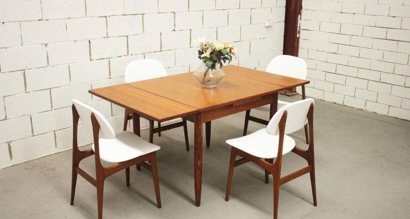Vintage Retro Dining Suite Table Chairs Danish