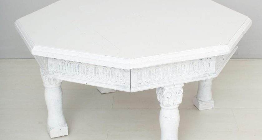 Vintage White Coffee Table Sale Pamono