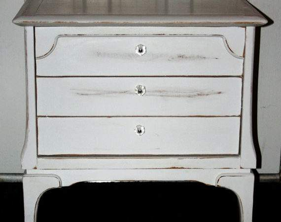 Vintage White Hand Painted Furniture Shabby Chic Cottage