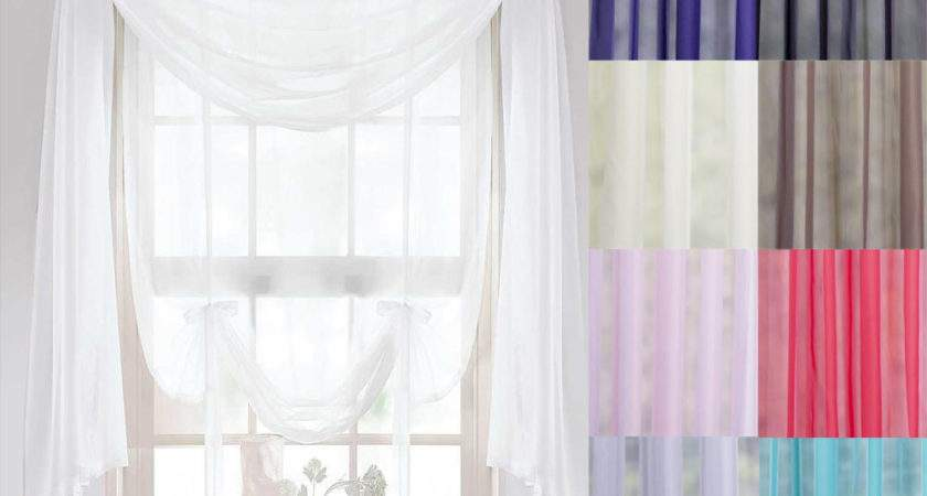 Voile Scarves Lengths Curtains Swags