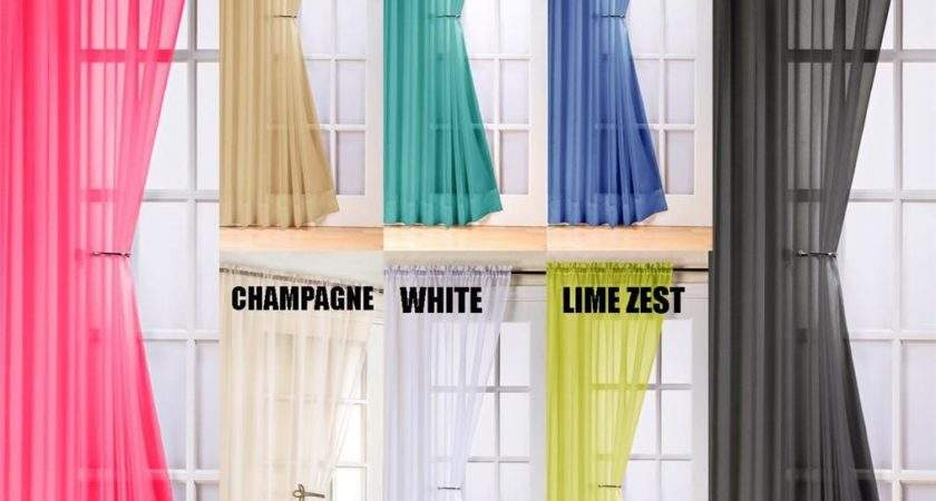 Voile Swag Swags Tassle Decorative Curtain Drapes