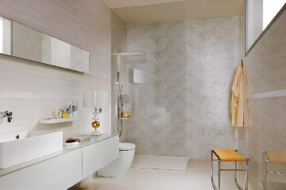 Wall Coverings Bathrooms House Designing Ideas
