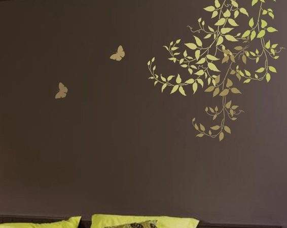 Wall Stencil Large Clematis Branch Reusable Easy
