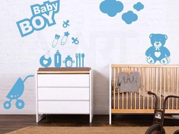Wall Stickers Baby Boy Room Blue