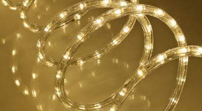 Warm White Led Rope Light Indoor Outdoor