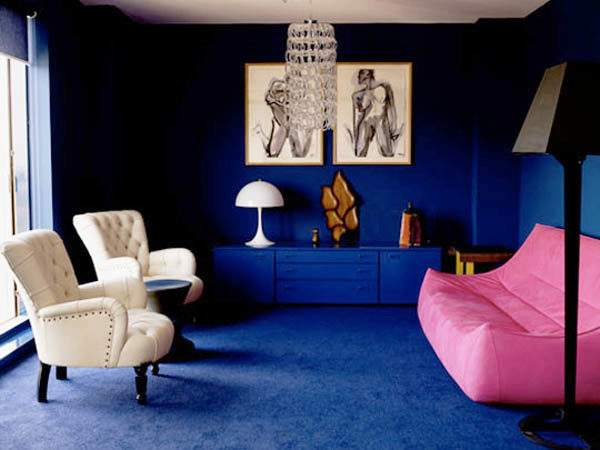 Wealthy Blue Pink Interior Decorating Paint Colors
