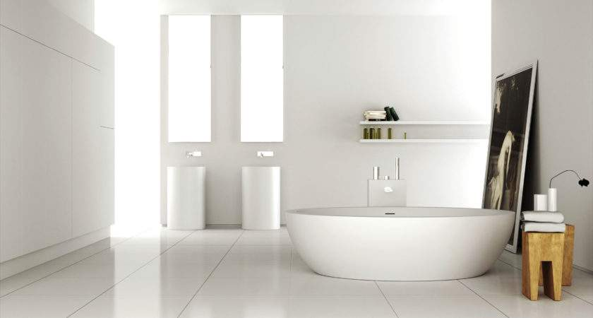 White Acrylic Freestanding Tub Rounded Brown Wooden