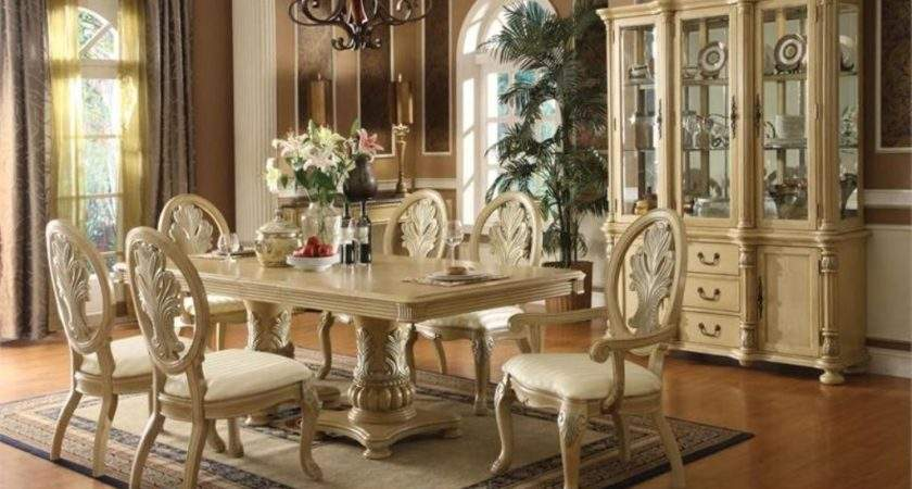 White Antique Dining Room Set Hutch Best Home