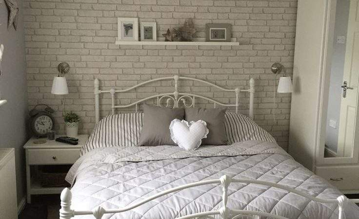White Brick Bedroom Pleasing
