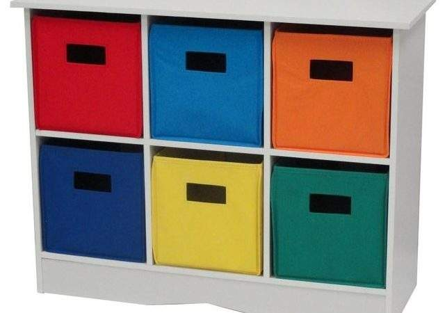 White Cabinet Bins Primary Traditional
