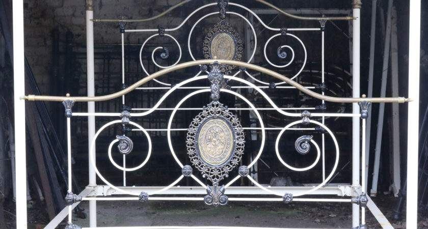 White Cast Iron Four Poster Bed