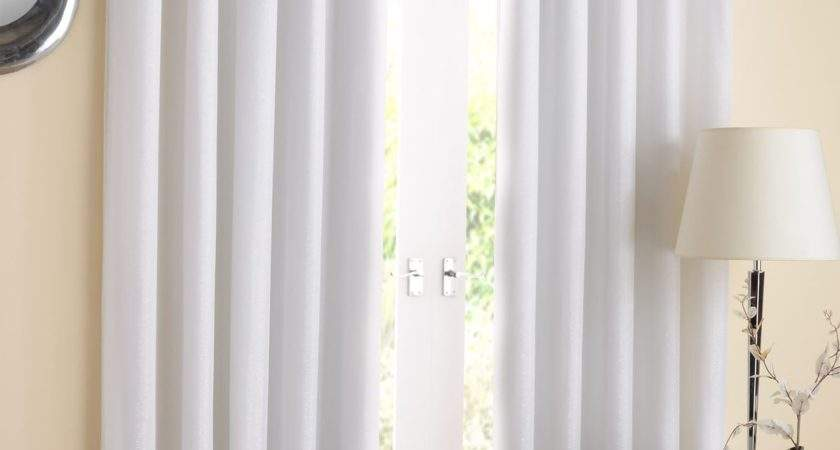 White Eyelet Curtains Ready Made Home Honoroak