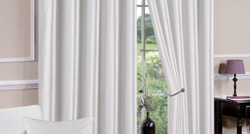 White Eyelet Lined Curtains Derwent Choice Sizes